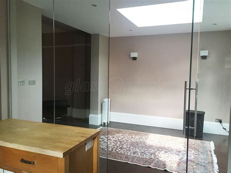 Glass Door Partition Glass Partitioning At Domestic Property Mapesbury Glass Partition Wall And Door