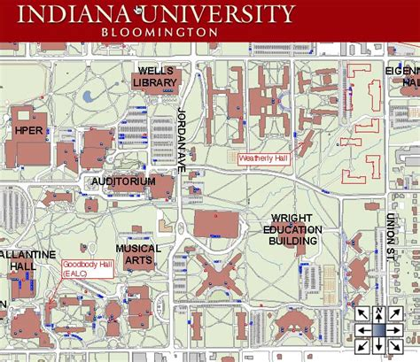 iu map indiana bloomington map cus
