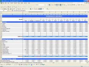 household budget excel templates
