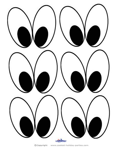 eyes template coloring pages