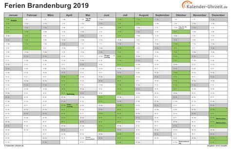 Kalender 2018 Feiertage Und Ferien Brandenburg Ferien Brandenburg 2019 Ferienkalender Zum Ausdrucken