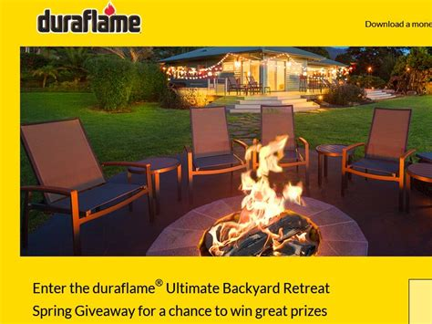 Backyard Giveaway by Duraflame Ultimate Backyard Retreat Giveaway Sweepstakes