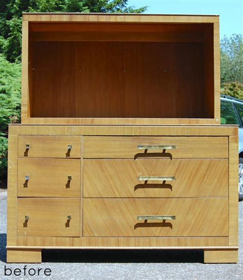 Refinished Dressers Before And After by Before After Refinished Dresser Design Sponge