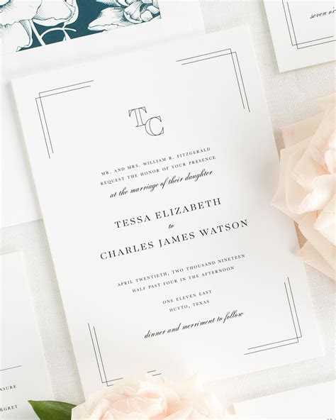 Wedding Invitation Collections by Tessa Wedding Invitation Collection Shine Wedding