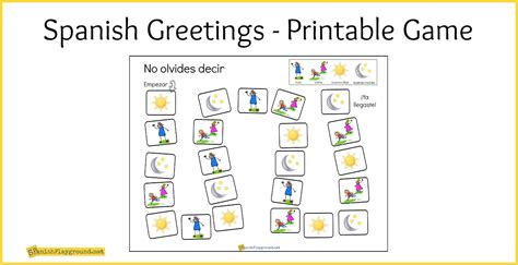 printable board games to learn spanish spanish greetings game printable board spanish playground