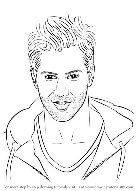 how to sketch learn how to draw varun dhawan step by step