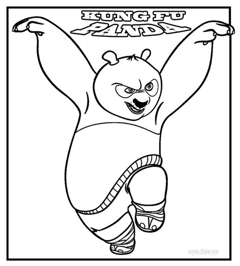 Printable Kung Fu Panda Coloring Pages For Kids Cool2bkids Panda Colouring Pages