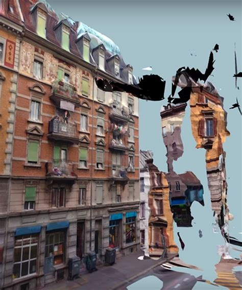 art design zurich dirk koy 3d scans zurich into a dreamlike glitchy 360 176 video