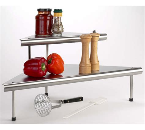 stainless steel corner shelf kitchen two tier stainless steel corner storage shelf in cabinet shelves