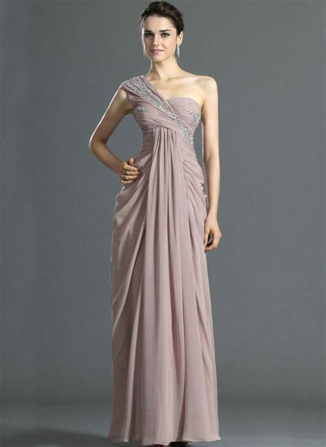 one shoulder chiffon empire evening dresses maternity