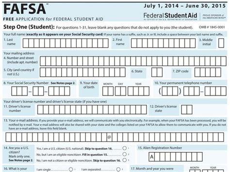 a simpler financial aid application burlington record