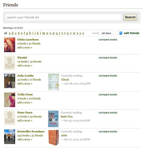 design pattern for ui friend list design pattern