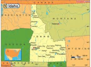 united states map idaho idaho map and idaho satellite images