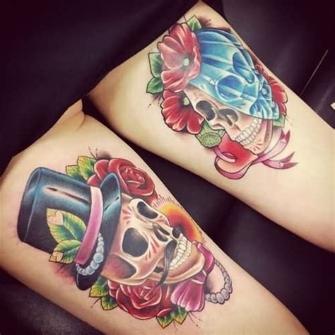 couple tattoo on leg couple tattoo images designs