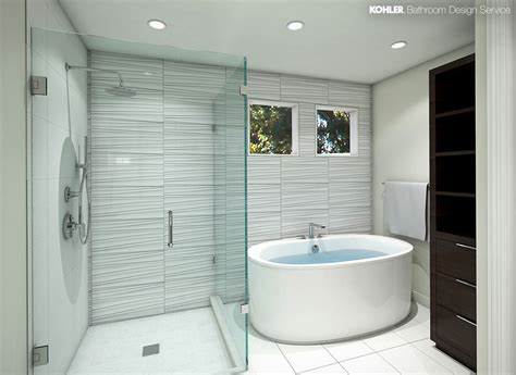 Shower Designs For Bathrooms Kohler Bathroom Design Service Personalized Bathroom Designs