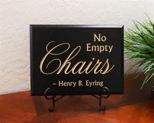 no empty chairs henry b eyring