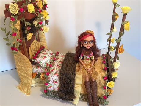 ever after high beds rosabella beauty doll bed remake ever after high youtube