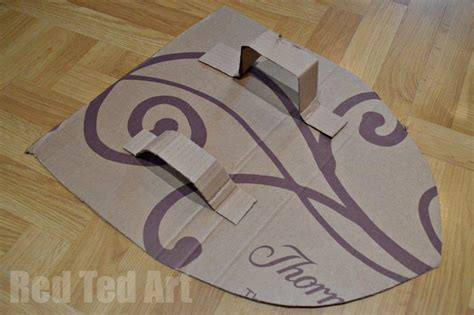 cardboard shield template how to make a s shield ted s