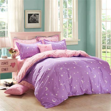 sky bedding elegant pink night sky 4 piece bedding set reactive