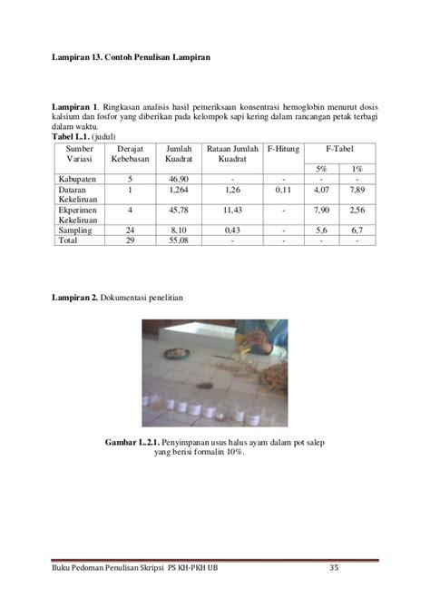 format penulisan skripsi unila 2017 pedoman penulisan skripsi kedokteran hewan
