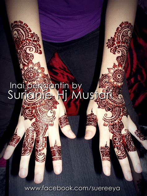 design henna pengantin professional henna artist surianie andaman dan solekan