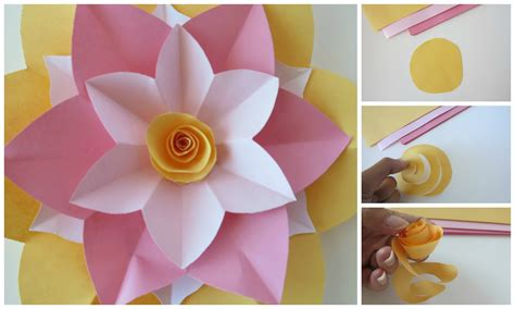 How To Make Paper Flower Tutorial - ashlee designs paper flower tutorial
