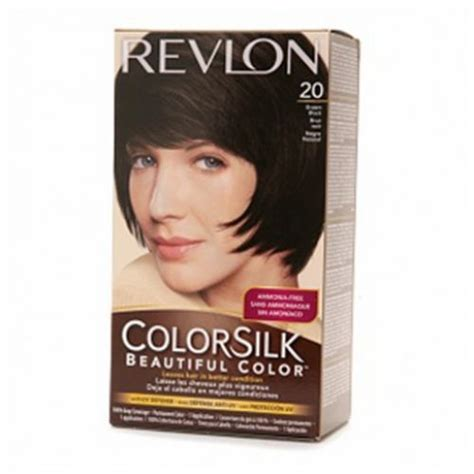 revlon hair dye colors revlon colorsilk hair color dye brown black 20 hair