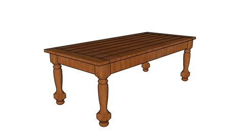 diy coffee table with turned legs turned leg coffee table plans howtospecialist how to build step by step diy plans