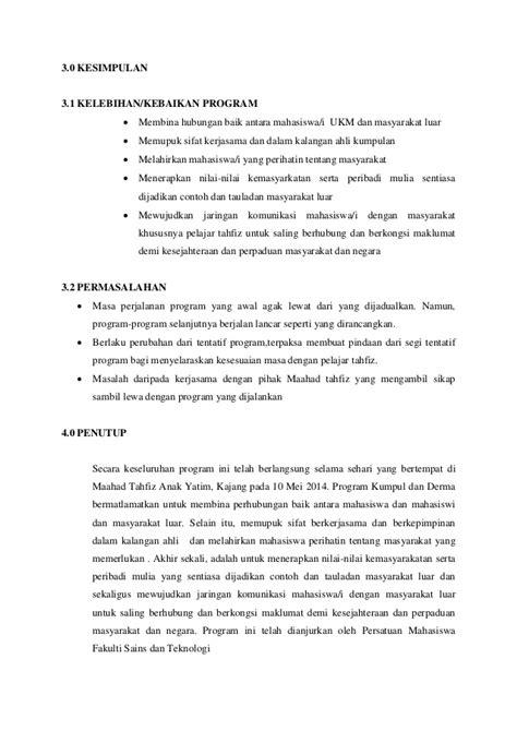 format laporan jualan laporan program keseluruhan