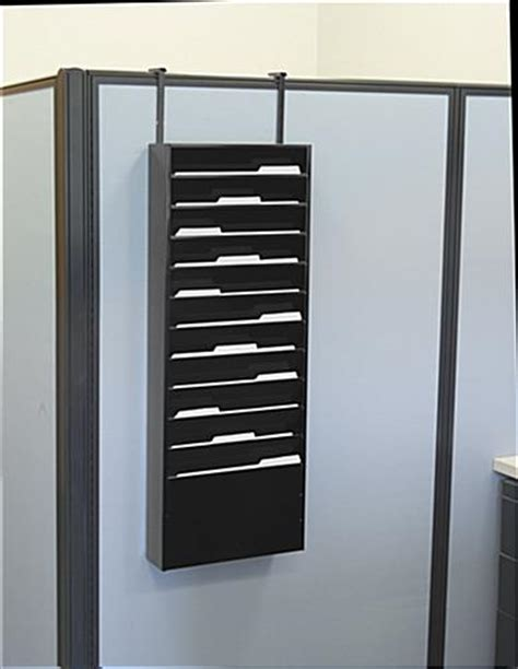 Folder Wall Rack by 11 Pocket Wall Mount File Holder Metal Construction Black