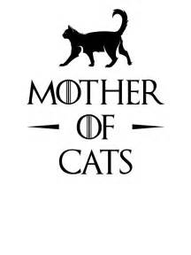 Wall Stickers Cats quot mother of cats quot stickers by affanita redbubble