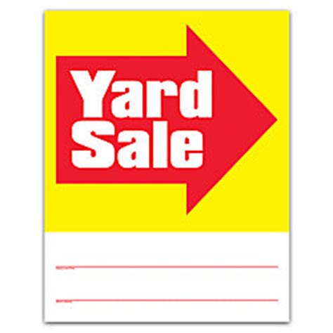 Office Depot Yard Signs Yard Sale Signs 14 H X 11 W Pack Of 4 By Office Depot