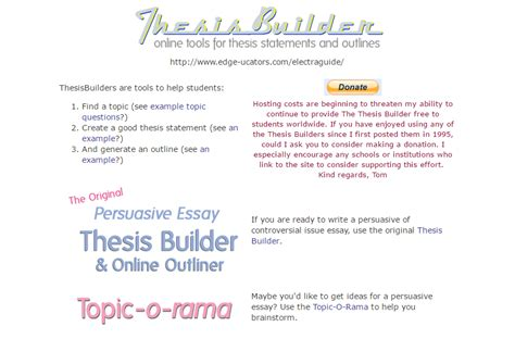 thesis builder 21 tools and resources for academic essay writing
