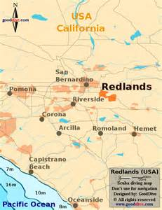 map of redlands california map of redlands