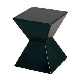 Black Gloss Side Table Edge Funky Black High Gloss Lacquered End Table Ebay
