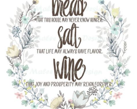 Wedding Blessing Bread Salt Wine by Bread Salt Wine Etsy