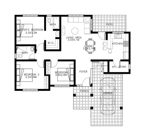 house design with floor plan philippines 40 small house images designs with free floor plans lay