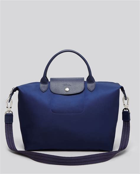 Longch Le Pliage Neo Handbag longch le pliage neo medium tote in blue lyst