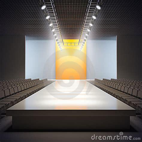 fashion empty runway stock  image