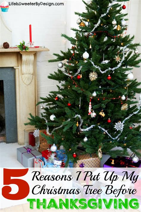 reason for christmas trees 5 reasons i put up my tree before thanksgiving is sweeter by design