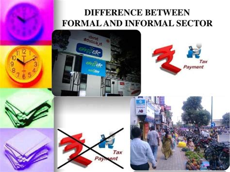 Difference Between Formal Credit And Informal Credit Informal Sector