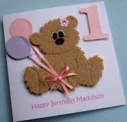 made birthday cards handmade personalised childrens teddy card the teddy is