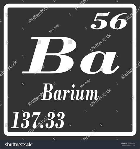Barium Protons by Periodic Table Elements Barium Stock Vector 368446184