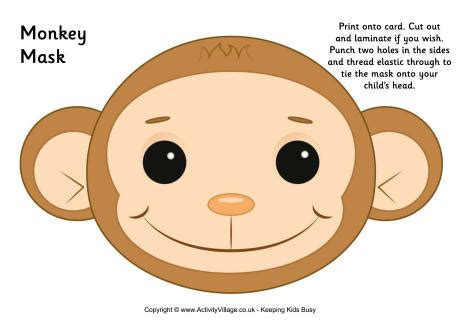 new year monkey mask monkey mask printable