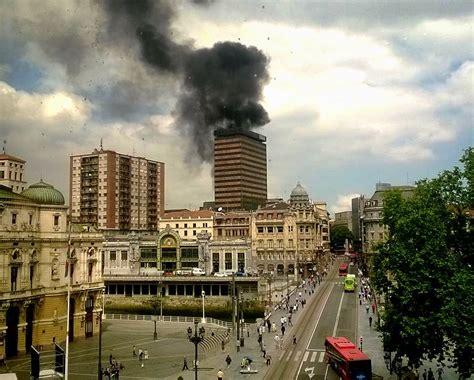 incendio en la azotea de el corte ingl 233 s de bilbao - Corte Ingles De Bilbao