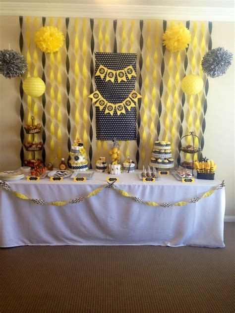 Bee Themed Baby Shower by To Bee Baby Shower Bumble Bee Theme Shower Baby