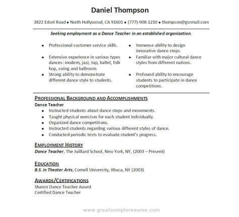 dance resume templates http topresume info dance