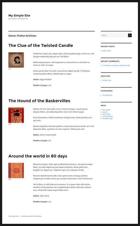 archive page template creating taxonomy term archives toolset