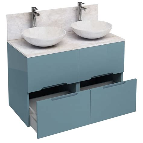 Floor Standing Bathroom Furniture 1000mm Floor Standing Drawer Unit And Marble Basin Buy At Bathroom City
