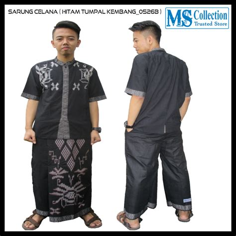 Celana Sarung Murah Bandung Hitam sarung celana motif hitam tumpal kembang 0526b ms collection